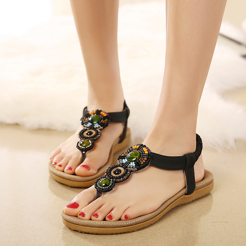 Women Sandals Bohemia Summer Sandals Shoes Women Flip Flops Soft Flats Sandalias Mujer Gladiator Ladies Shoes summer flat sandals ladies jelly bohemia beach flip flops shoes gladiator women shoes sandles platform zapatos mujer sandalias