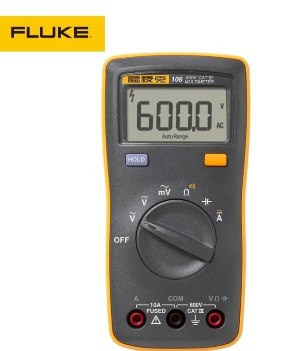 Fluke 106 F106 Fully automatic high-precision Handheld Digital Easily Carried mini Multimeter tester gerdamix fl crema f106 жасмин