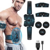Abs Muscle Electro Stimulator EMS Trainer Fitness Training Gear Abdominal Muscles Toner Electrostimulation Home Gym Equipment