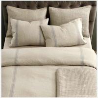 flax light grey Stripe Linen Bed Linen Duvet Cover sets pure linen bedding king queen twin