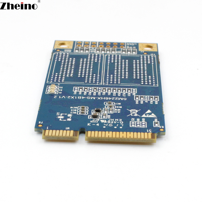 Zheino MINI SATA M1 mSATA3 64GB SSD SATA3 Internal Solid State Drive 2D MLC Flash Storage Devices Hard Drive For Laptop MINI PC