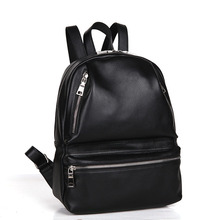 Genuine Leather Lady Back Bag Designer Trendy Girls Backpack Top Layer Cowhide Women Fashion Casual Travel Bag Black Schoolbag