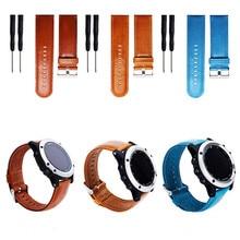 WEIGELA Genuine Leather Strap Watchband for Garmin Fenix 5X for Garmin Fenix 3 3 HR GPS Watch Replacement Wrist Band Strap 25 mm