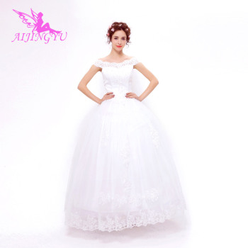 AIJINGYU 2018 new free shipping china bridal gowns cheap simple wedding dress sexy women girl wedding dresses gown TS149