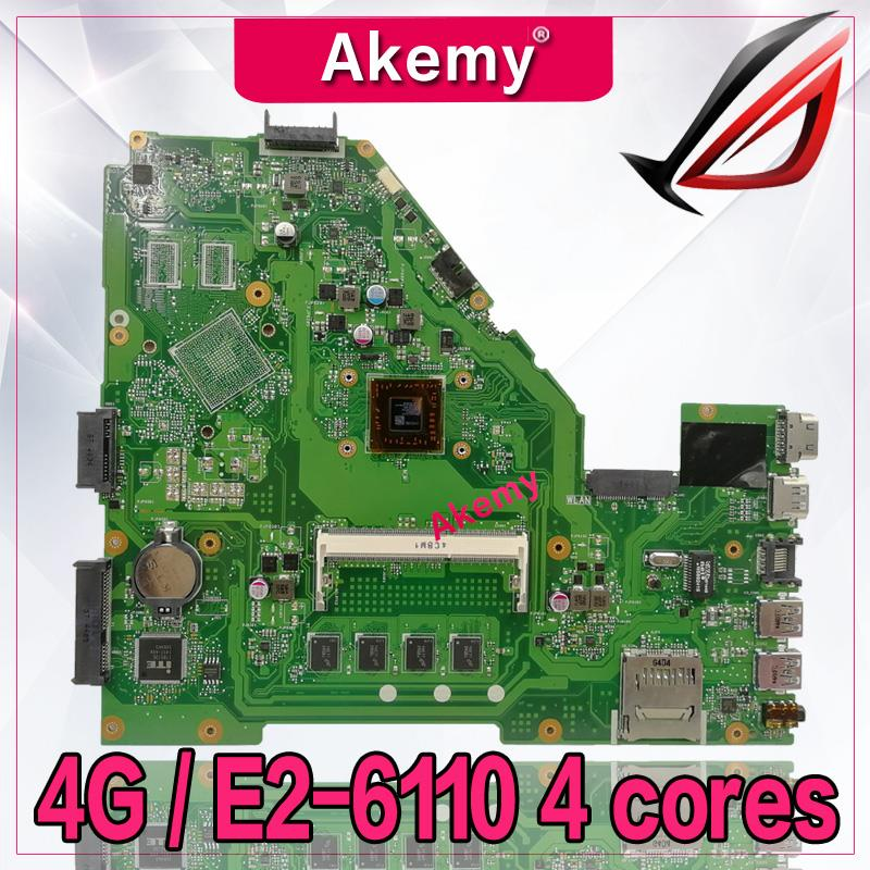 Akemy X550WA Laptop motherboard for ASUS X550WA X550WAK X550W X550WE X552E X550EP X550EA Test mainboard 4G