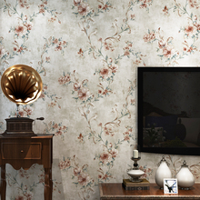 New Vintage American country non-woven wallpaper European pastoral big flower bedroom living room sofa TV background wall paper