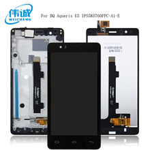 WEICHENG LCD Pantalla Tactil Con Marco For BQ Aquaris E5 4G 0760 IPS5K0760FPC-A1-E LCD Display With Touch Screen Digitizer+Frame