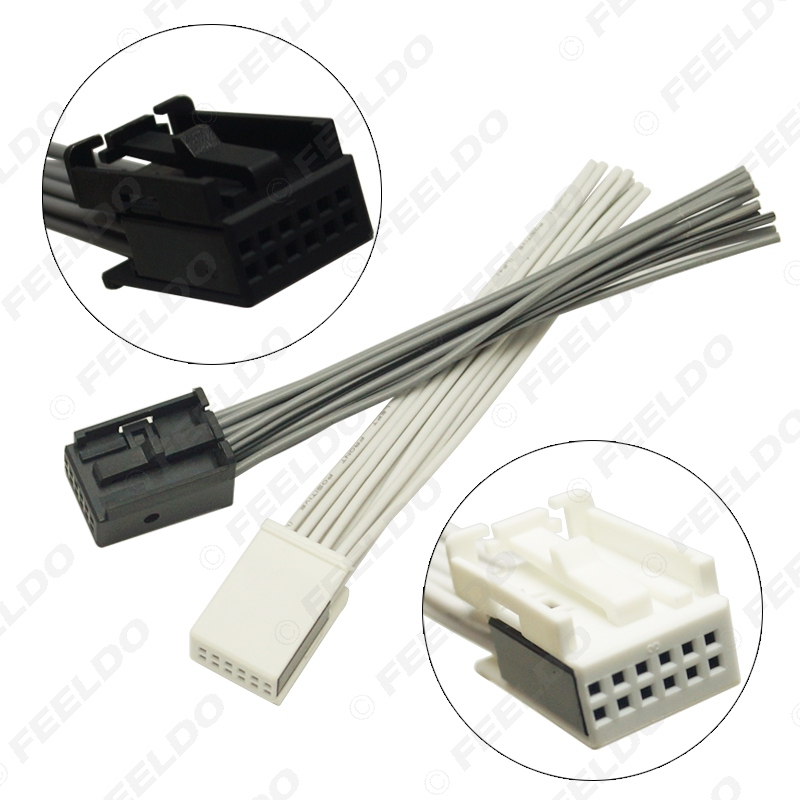 Car Radio AUX Wire Adapter 12-Pin Connector fit Ford BMW VW Peugeot Opel  Stereo | eBayeBay