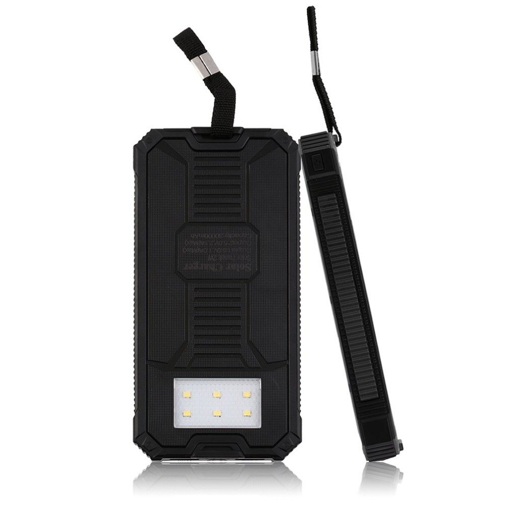 20000mAh Solar Charger Portable Solar Power Bank Outdoors Emergency External Battery for Mobile Phone Tablets Light power