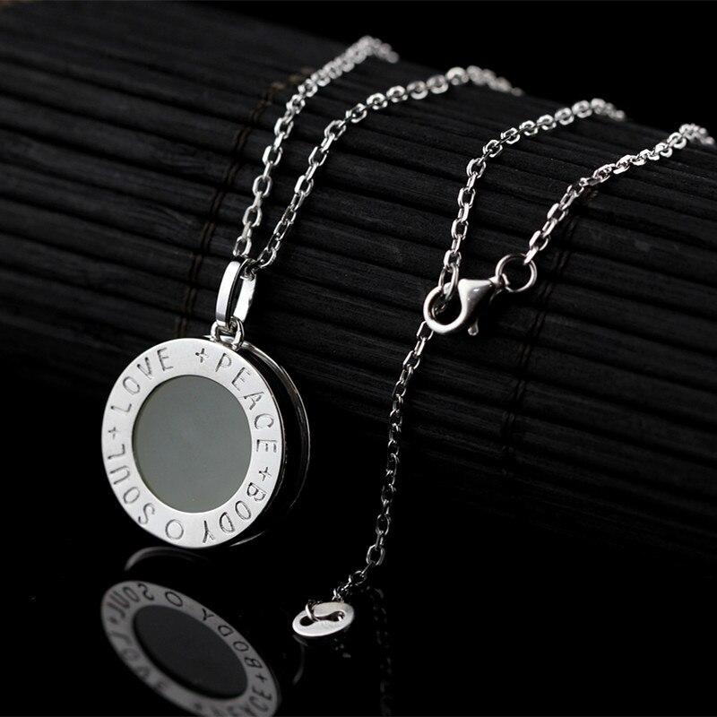 L & P Soul Love pierre naturelle 925 pendentif en argent Sterling collier pour femmes plaqué or collier en gros cadeau offre spéciale