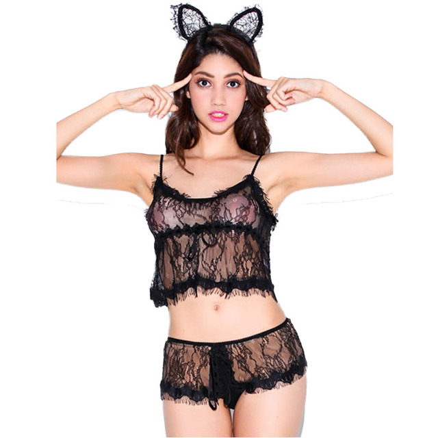 LH8407 New arrival sexy style women underwear set 2016 fashion 2 solid colors bra sets Top selling  all over lace sexy lingerie