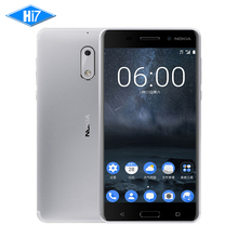 "Nuevo Original Nokia 6 4G RAM 32G ROM 3000 mAh 16MP Dual SIM Qualcomm Octa Core 5.5 ""Nokia6 4G LTE Teléfono Móvil de Huellas Digitales"