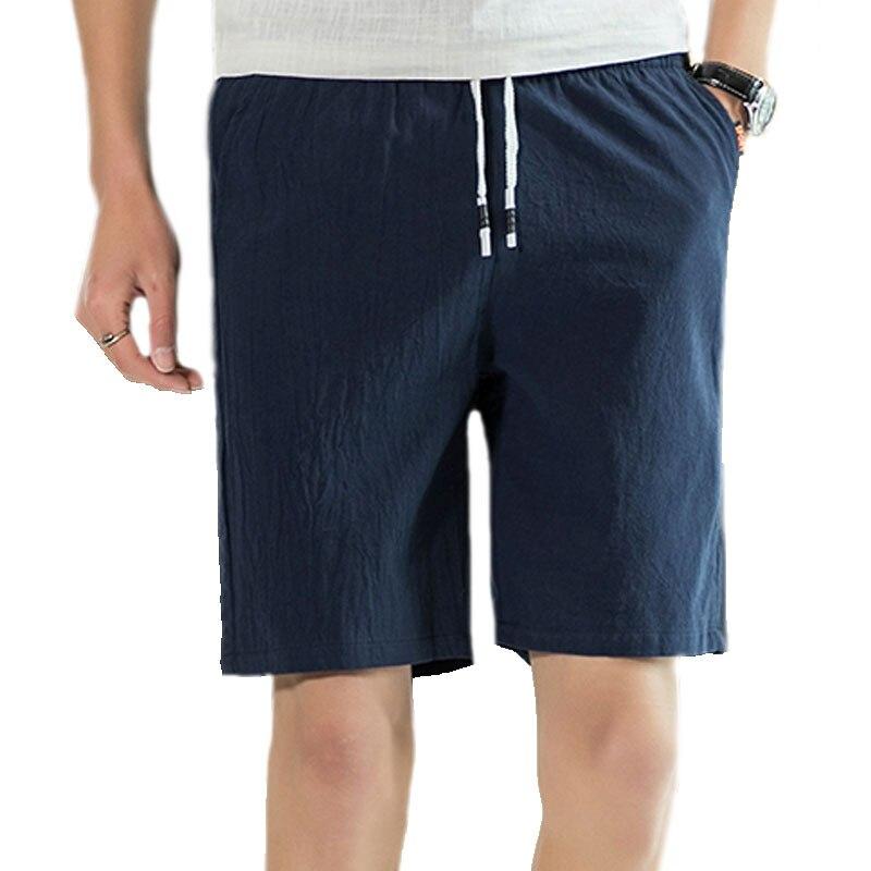 Solid Color Mens Shorts Comfort Elastic Waist Mens Shorts Breathable Knee Length Black Orange Khaki Green Blue Gray M-4XL