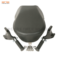 Black Motorcycle Rear Foot Peg Passenger Pillon Seat Cover Case For Harley Sportster XL883 XL1200 2007