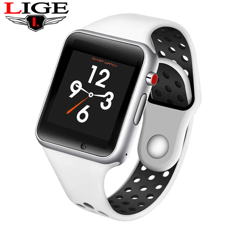 LIGE 2019 New Men Sports Smart Watch Pedometer Sedentary Sleep Monitoring Information Reminder Support SIM Card Fitness Watch
