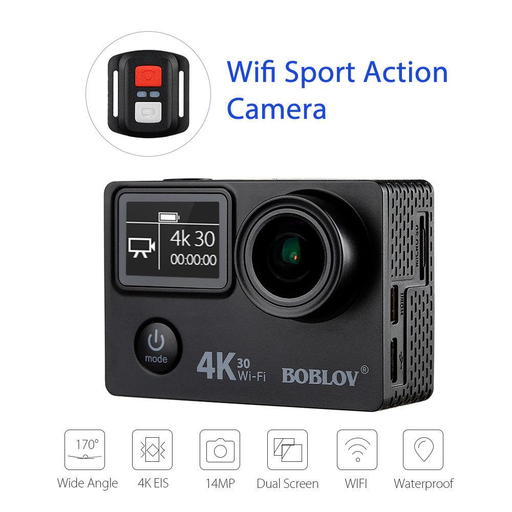 все цены на Boblov V8S 2inch LCD Screen 14MP WIFI 4K EIS Sports Helmet Camera Ultra HD 1080p Waterproof DV Video Camcorder 170 Degree онлайн