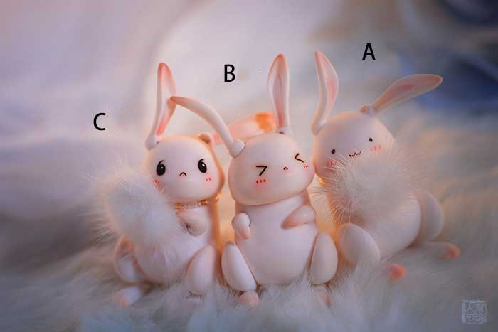 Hot Sale SuDoll 1/12 bjd sd cute rabbit dolls model girls boys toys