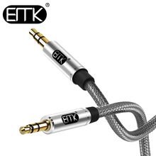 EMK 3.5mm Audio Cable Jack 3.5 Aux Cable Male to Male 0.5m 1m 2m 3m jack audio For phone Car Headphone MP4/3 with Cotton braided аксессуар blast bac 711 aux jack 3 5mm jack 3 5mm 1m 10016