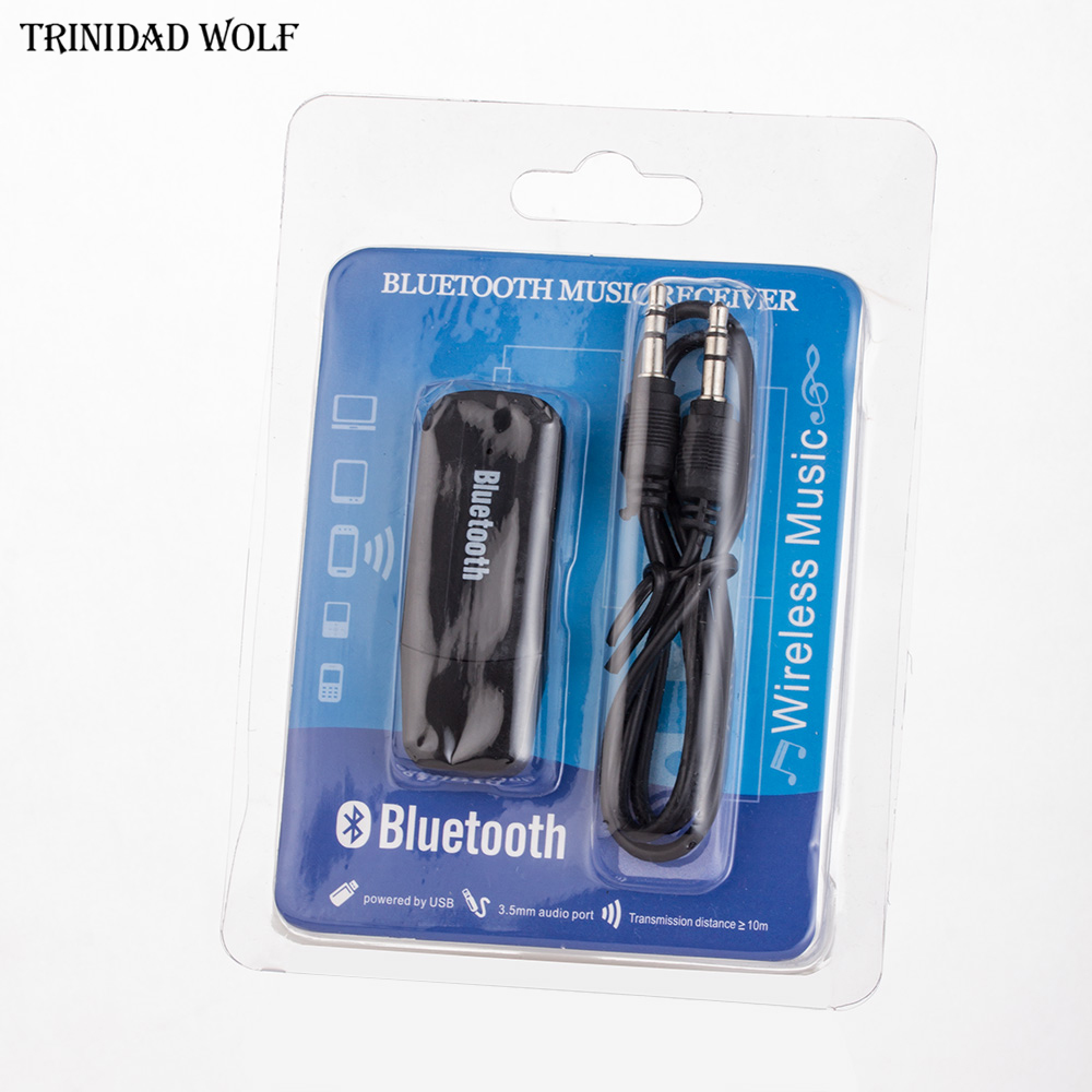 Trinidad Wolf Mini Wireless Bluetooth Audio Receiver Handfree 3.5mm Streaming Car Auto AUX Audio Adapter For Car Stereos Bass aux wireless bluetooth audio receiver adapter with car charger