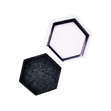 Hexagonal fleshy flowerpot tray Concrete mold for flower vase base cement silicone mould