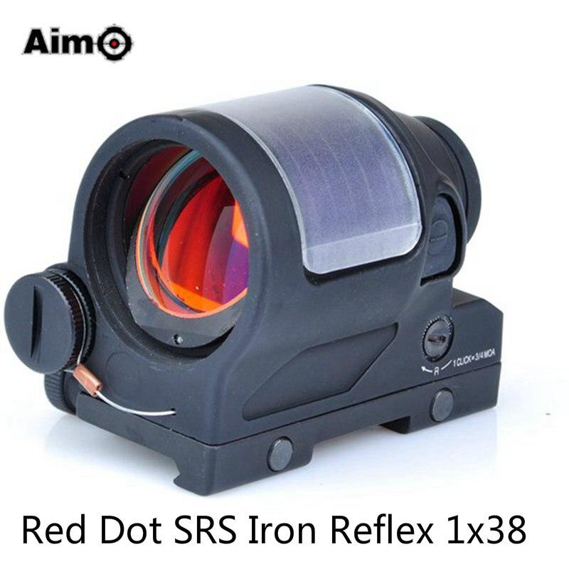 Aim-O Hunting Red Dot SRS Iron Reflex 1x38 Sight Scope Optics Riflescope 1.75 MOA AO5047 special 1ch rf wireless remote control switch system 1 transmitter