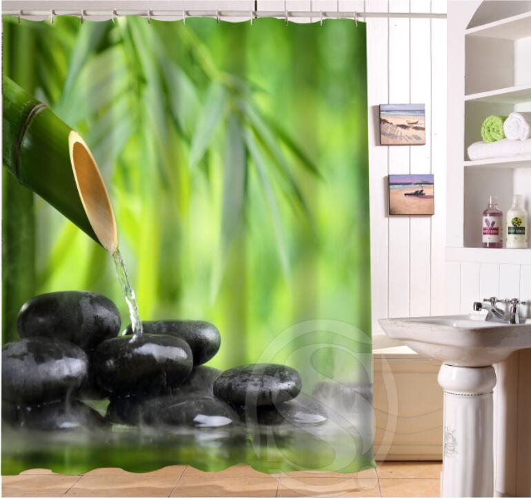 NEW HOT Custom Waterproof Bath Curtain Zen Stone Waterproof Shower Curtain  For Bathroom Free Shipping LQ 4R55 In Shower Curtains From Home U0026 Garden On  ...