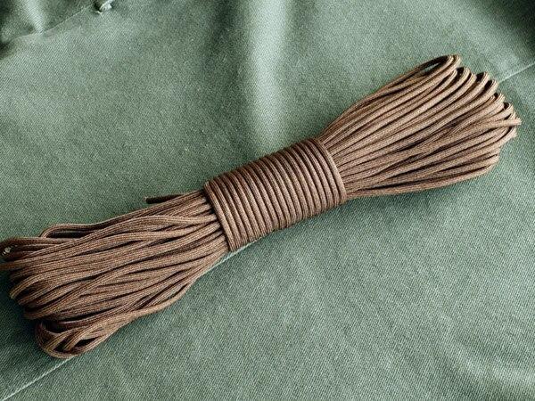 9 жильный шнур 100 футов(31 м) для выживания на открытом воздухе парашютный шнур Паракорд для путешествий набор для выживания инструмент для веревки аксессуары - Цвет: Brown
