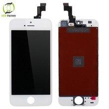 Garantía 100{e3d350071c40193912450e1a13ff03f7642a6c64c69061e3737cf155110b056f} aaa lcd para iphone 5s pantalla lcd con pantalla táctil digitalizador asamblea blanco asamblea envío gratis