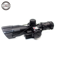 LUGER 2.5 10x40E Hunting Riflescope Red&Green Illuminated Reflex Sight Tactical Sniper Scopes With 20mm & 11mm Mount