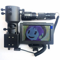 Day and night dual use Riflescope Add On DIY Night Vision Scope with LCD Screen and Laser Flashlight with 25mm Mount
