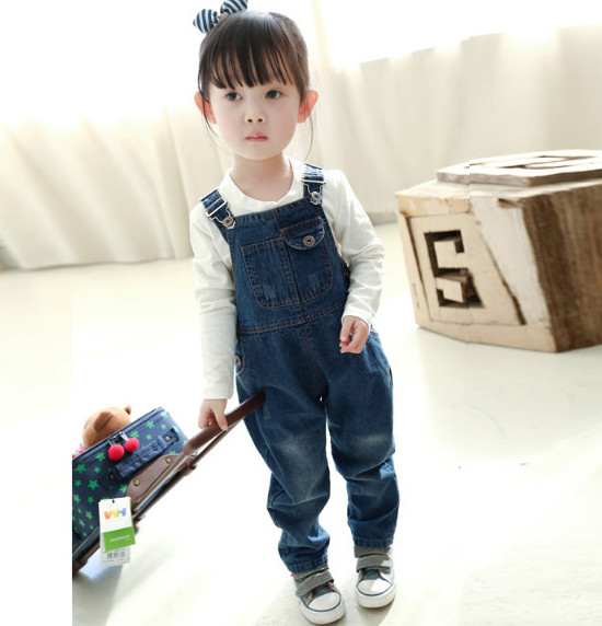 Baby toddler boy girl unisex denim dungarees jeans playsuit jumpsuit bib overall