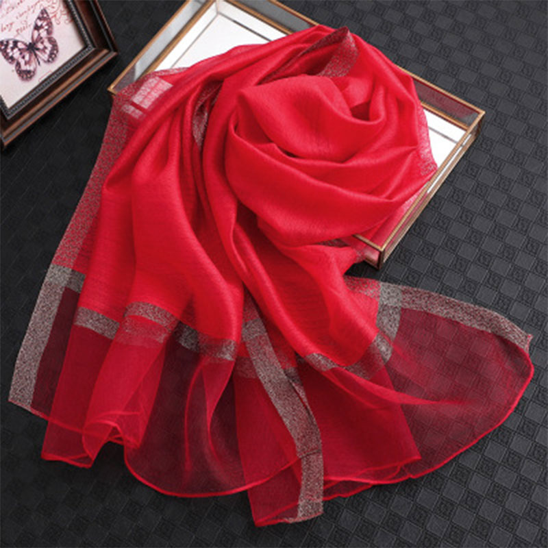 Brand 2019 solid silk scarf women scarves shawls and wraps pashmina muslim chiffon hijab foulard femme beach stoles bandana in Women 39 s Scarves from Apparel Accessories