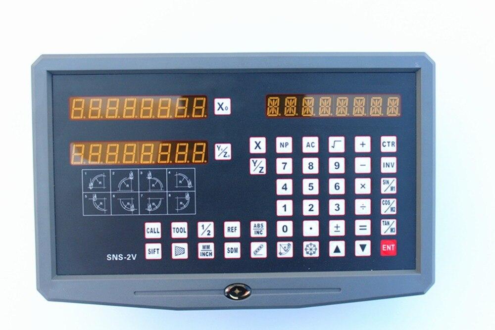 цена Hot! lathe / milling / drill / EDM / CNC machine 110V-240V 2 axis digital readout DRO and linear scale / linear sensor