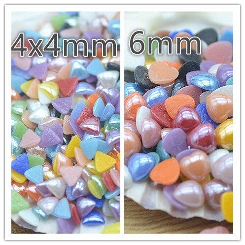 200 шт. керамики смешанный цвет Половина Flatback жемчуг имитация жемчуга Бусины Бесплатная доставка