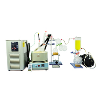 Lab Equipment 2L Short Path Distillation Kit Complete Turnkey Package w/ Vacuum Pump & Chiller