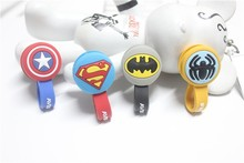 10pcs/lot Superman, Batman Headphone Earphone Cable Wire Organizer Cord Holder USB Charger Cable Winder For iphone samsung MP3