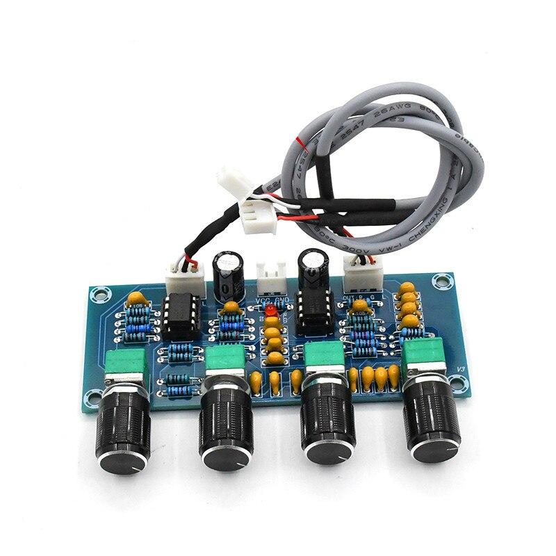 GHXAMP NE5532 Placa Tom Amplificador Treble Mid Bass ajustar DC Preamp Preamplifier Tom Placa De Áudio 2019