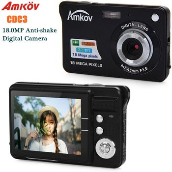 Amkov CDC3 2.7 Inch Digital Camera 1080P TFT HD Screen 18.0MP CMOS 3.0MP Anti-Shake Digital Video Camera With 8X Digital Zoom digital camera