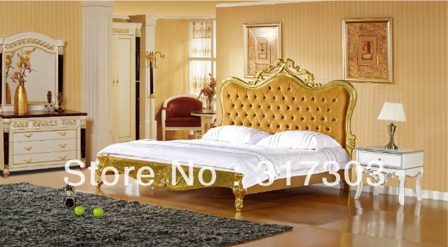best quality wholesale french style bed, fabric bed, king bed ...