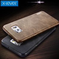 For Samsung S6 Case X Level Vintage Cowboy Soft Luxury Leather Phone Back Protective Cover For