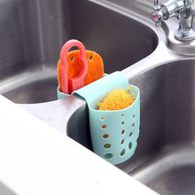 Double Sink Caddy Saddle Style Kitchen Organizer Storage Sponge Holder Rack Tool Random Color Kitchen Saddle Drain Double-Pane S(China)