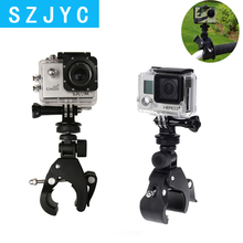 SHOOT Bicycle Handlebar Handle Clamp Camera Mount for GoPro Hero 7 5 6 4 SJCAM Xiaomi Yi Lite 4K H9 Bike Clip Holder Accessories drift handlebar bracket mount motorcycle bicycle bike holder accessories for ghost 4k s x stealth 2 gopro xiaomi action camera