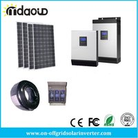 off Grid Solar Kit 4.5kw PV Solar panel /10kVA 8kw Inverter/Charger 120A/accessory/CABLES
