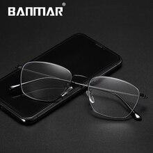 BANMAR Fashion Blue Light Glasses Retro Metal Frame Anti Ray Computer Designer Square Eyewear A5026