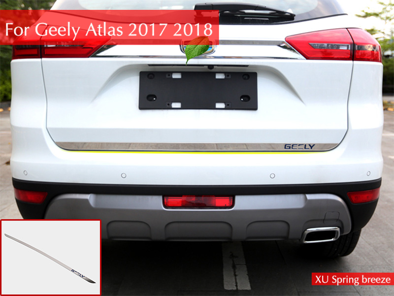 цена на Car Rear guard trunk rear bumper tail window chrome trim car styling For Geely Atlas 2017 2018