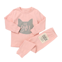 New Casual Pajamas Sets For Girls And Boys Cotton Clothing Suits Character Sleepwear Children Long Sleeve