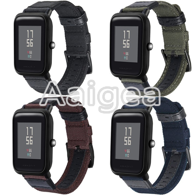 Woven Nylon Watch Strap For Huami Amazfit Bip BIT PACE Lite Youth Replacement Bracelet for amazfit bip Smart Watch watchbands mijobs for xiaomi huami amazfit bit strap metal stainless steel bracelet replacement huami amazfit bip bit pace lite youth watch