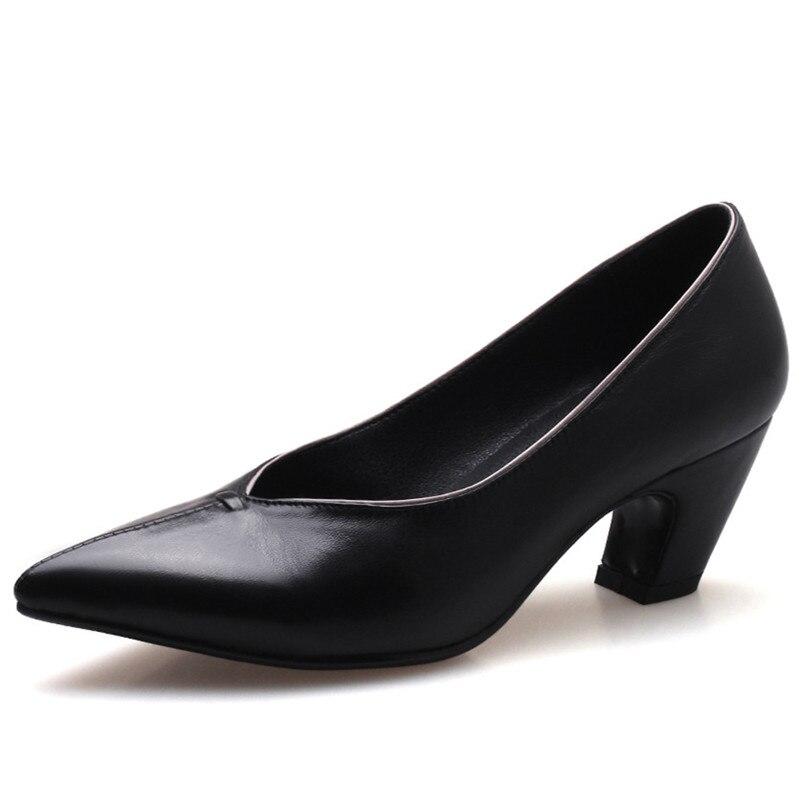 Mariage kaki Talons De Slip Partie Femmes Conasco Base Quatre Saison Nouvelles Sur Hauts Rétro Femme Dames Noir Bureau Pompes Chaussures eQrxCoWBd