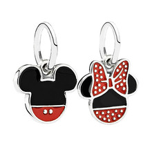 Vogue Exquisite DIY European Alloy Beads Cartoon Mickey Minnie Pendant Charms Fit Original Bracelets & Bangles High Quality NEW
