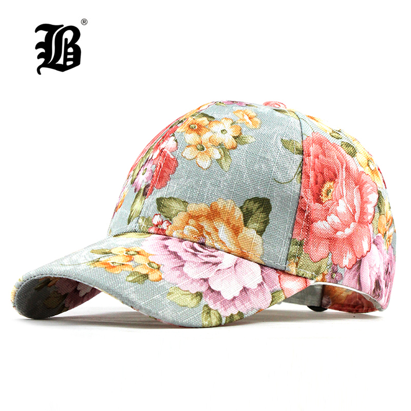 [FLB]   Baseball     cap   Flowers Cotton   cap   Snapback Hats for Men Women   Caps   Casquette Hats Floral Embroidery   Cap   Bone F186